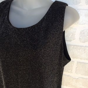 Women's XScape XL metallic and black tank top